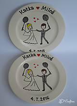- Svadobné taniere - svadobný darček - 6868235_