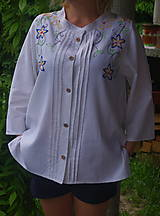 Košele - Vyšívaná košeľa - 6869655_