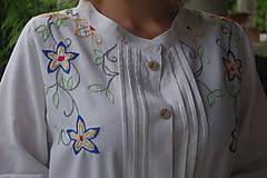 Košele - Vyšívaná košeľa - 6869669_