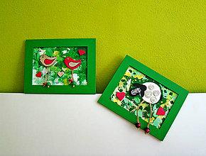 Obrazy - Zelené zvieratkovo - 6873138_
