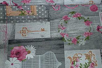 Textil - Látka Vintage v šedej - 6873572_