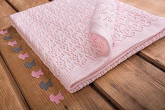 "Textil - Detská deka na leto, ""Miss"", OEKO-TEX® - Bledoružová - 6872422_"