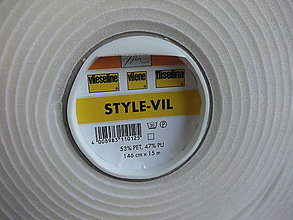 Textil - STYLE-VIL stabilizačná výstuha, biela - 6871260_