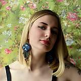 - Violettes odorantes - vyšívané náušnice - 6871677_
