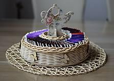 Košíky - košík na čajové vrecúška - 6872838_