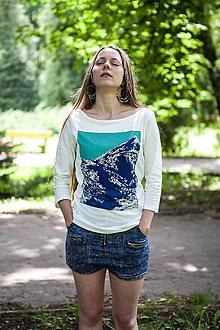 Tričká - Dámske horské tričko Končistá 3/4 . Blue - 6871471_