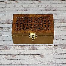 Krabičky - Truhlička s vyrezávaným vekom - 6871659_