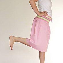 Sukne - bavlnená sukňa ružová - 6872168_