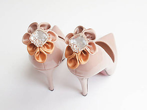 Obuv - Elegancia a la Chanel - zlaté klipy na topánky de Luxe - 6873290_