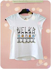 Detské oblečenie - Len ja a môj svet - tričko pre dievčatko - 6873599_