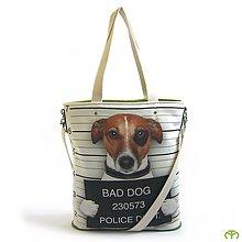 Veľké tašky - Mr. SHOPPER - Bad Dog (green) - 6873726_
