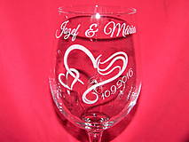 Nádoby - Svadobné poháre + gravirovanie 19 - 6870626_