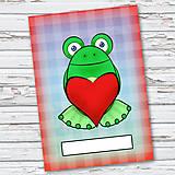 Papiernictvo - Žabí zápisník (káro (zamilovaný)) - 6870592_