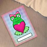 Papiernictvo - Žabí zápisník (káro (zamilovaná)) - 6873150_