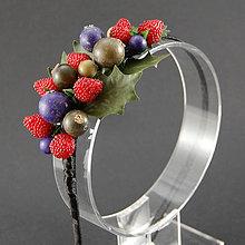 Ozdoby do vlasov - Máte chuť na jahody ... čelenka - 6876344_