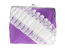 Dámská čipková kabelka bielo fialová 04R