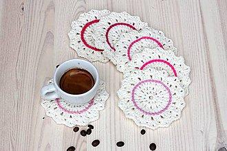 Úžitkový textil - Podšálky odtiene Ruže - 6876191_