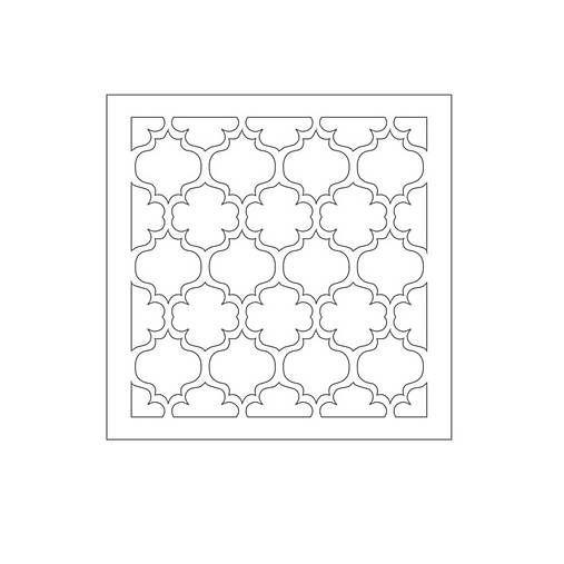 Chipboard panel 14,5x14,5cm Alice