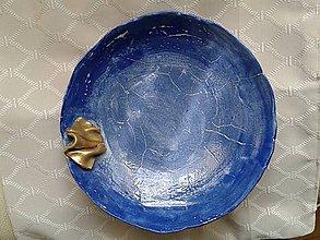 Nádoby - modrý tanier - 6874854_