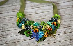 Náhrdelníky - Kvetinový náhrdelník - 6877663_