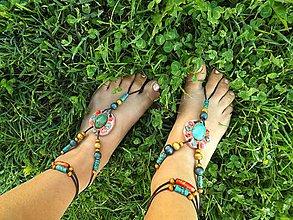 Iné šperky - sandále naboso s Tyrkysom - 6875094_