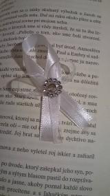 Svadobné pierko biely štras