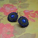 Náušnice - Blue&Iris earrings - 6877479_
