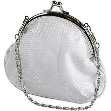 Polotovary - Látková kabelka s kovovým zapínaním - 6875073_