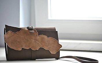 Papiernictvo - kožený zápisník Travel bag \