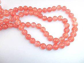Korálky - krištál ružovkastý 10mm korálky - 6875652_