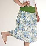 Sukne - bavlnená sukňa kvietkovaná - 6874551_