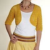 Sukne - letná sukňa žltá - 6874841_