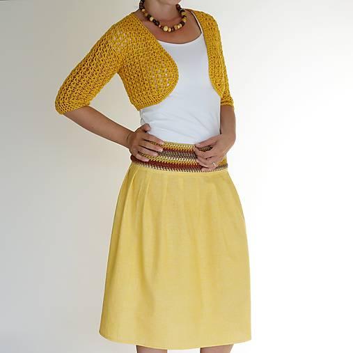 letná sukňa žltá