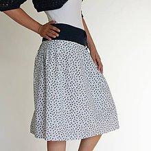 Sukne - letná kvietkovaná sukňa - 6874766_