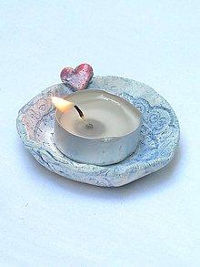 Svietidlá a sviečky - svietnik - srdiečko - 6876134_