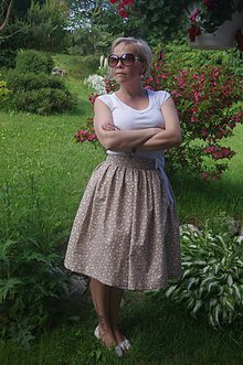Sukne - Smotanová sukňa - 6875504_