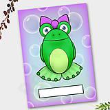 Papiernictvo - Žabí zápisník (bubliny (ona)) - 6874317_