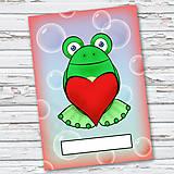 Papiernictvo - Žabí zápisník (bubliny (zamilovaný)) - 6874318_
