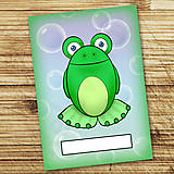 Papiernictvo - Žabí zápisník (bubliny (holý)) - 6876392_