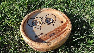 Prstene - Svadobný tanierik - na obrúčky - 6877022_