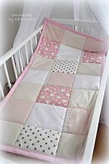 Textil - Prehoz do postieľky 120x60cm, kolekcia Basic bez aplikácií s béžovou - 6880776_