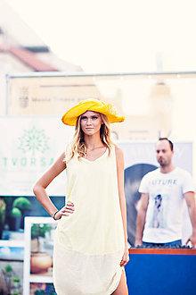 Čiapky - žltý letný klobúk - 6880671_