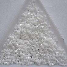 Korálky - TOHO hex opaque white 2mm-5g - 6879770_