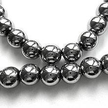 Minerály - Hematit 8mm-1ks (strieb.tmavá) - 6880017_