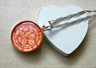 Iné šperky - Prívesok svetlo červený - 6878038_
