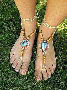 Iné šperky - Sandále naboso - Achát - 6879944_