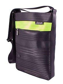Kabelky - Octavia black and lemon-z bezpečnostních auto pásů - 6880704_