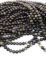 obsidián zlatý 8mm korálky AA kvalita