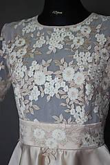 Šaty - Koktejlové šaty z tylovej krajky a kruhovou sukňou - 6879481_
