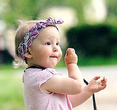 Detské doplnky - Čelenka V kytkách - 6879709_